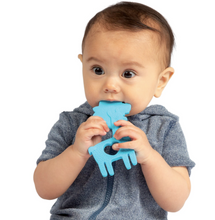 Load image into Gallery viewer, manhattan toy silicone teether blue llama front view model using teether