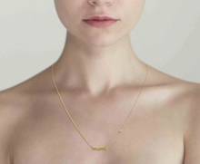 Load image into Gallery viewer, tai mom necklace as shown on model front view