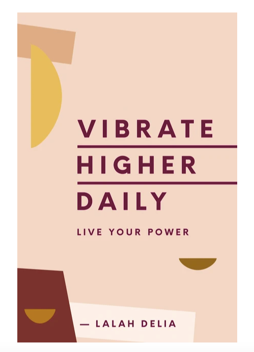 vibrate higher daily laydown cover shot on white background