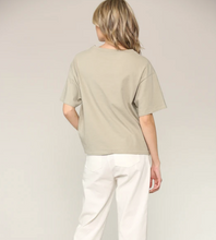 Load image into Gallery viewer, filosofia jade top dusty olive back view shot on model