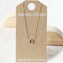Load image into Gallery viewer, amano studio small ring necklace front view on card backing