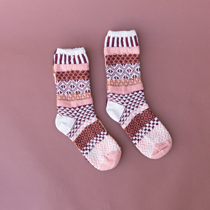 amaranth woven crew sock made in usa