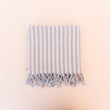 folded lilac turkish towel