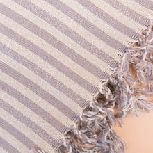 close up lilac turkish towel