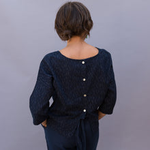 back view gwen top indigo spec by sugar candy mountain