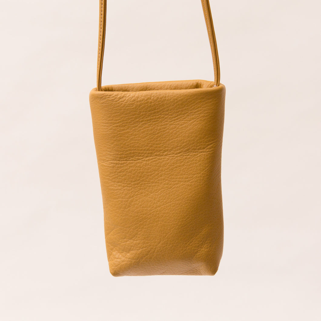 Sven | Small Leather Bag in Mustard