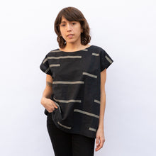 front view uzi tunic in charcoal rectangle