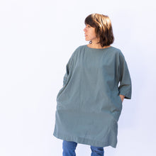 front view uzi tunic in teal