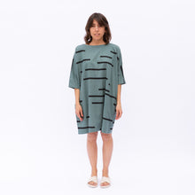 front view of teal uzi tunic