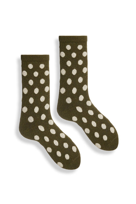 Lisa b. | Classic Dot Wool Cashmere Crew in Olive