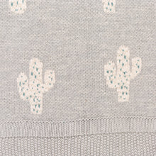 detail of woven cactus blanket
