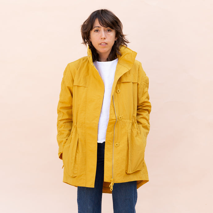 front view of yellow parka