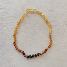 Load image into Gallery viewer, ombre teething necklace laydown top view