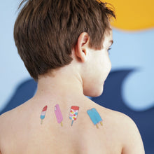 Load image into Gallery viewer, tattly popsicles tattoo seen on model's top back