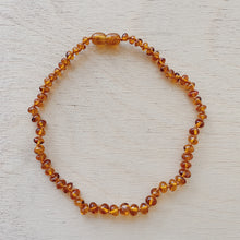 Load image into Gallery viewer, brown amber teething necklace laydown