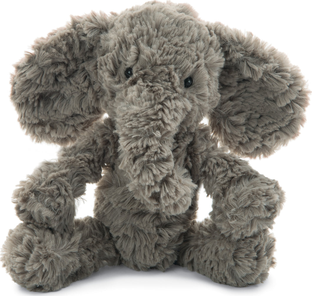 jellycat squiggles elephant sitting front view on white background