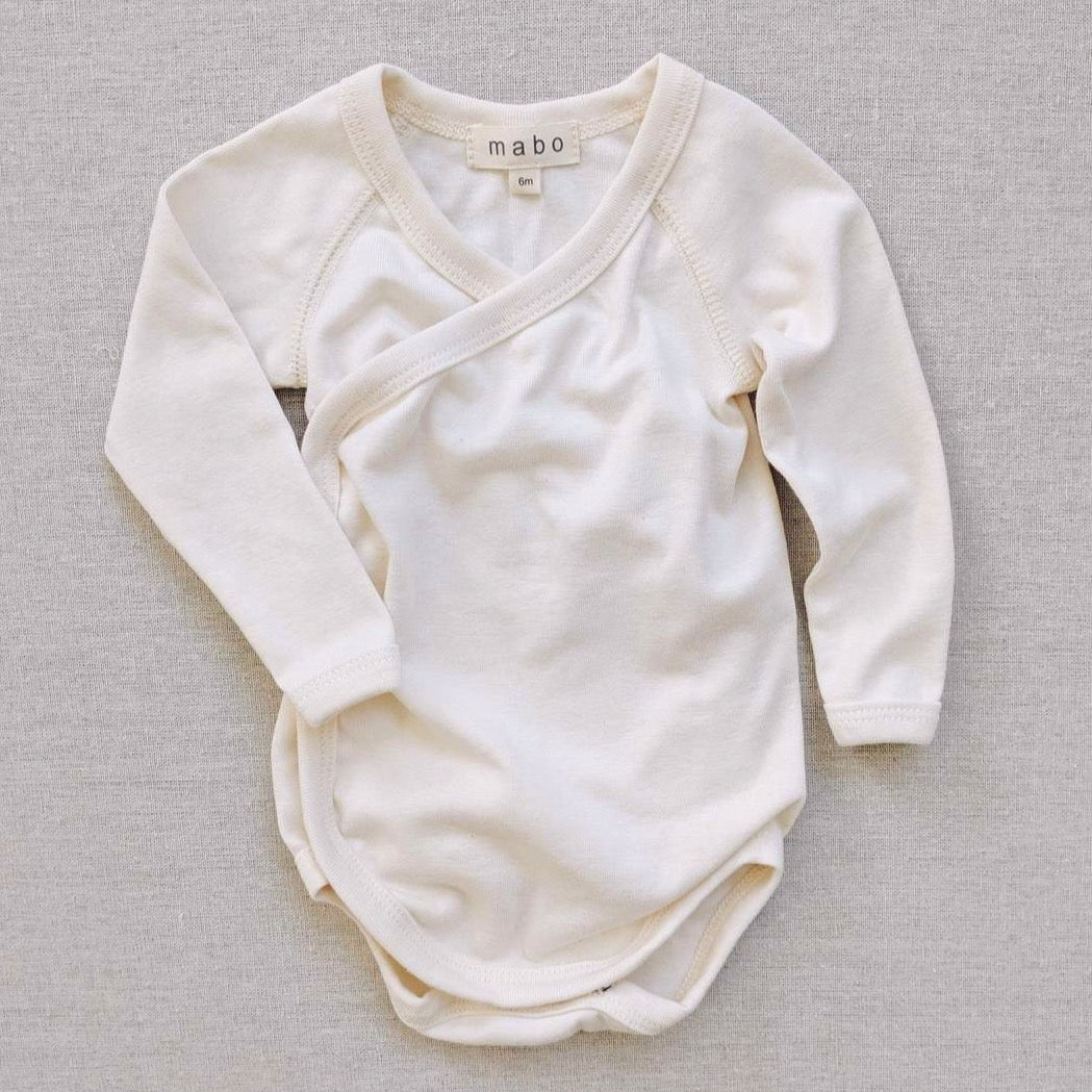 Mabo | Organic Cotton Wrap Onesie in Natural