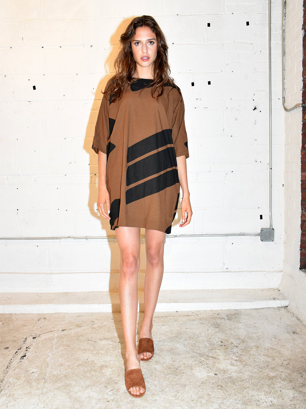 Uzi | Brown Swipe Tunic