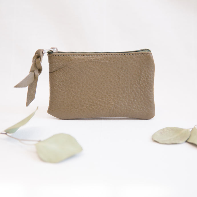 Leather Pouch | Olive