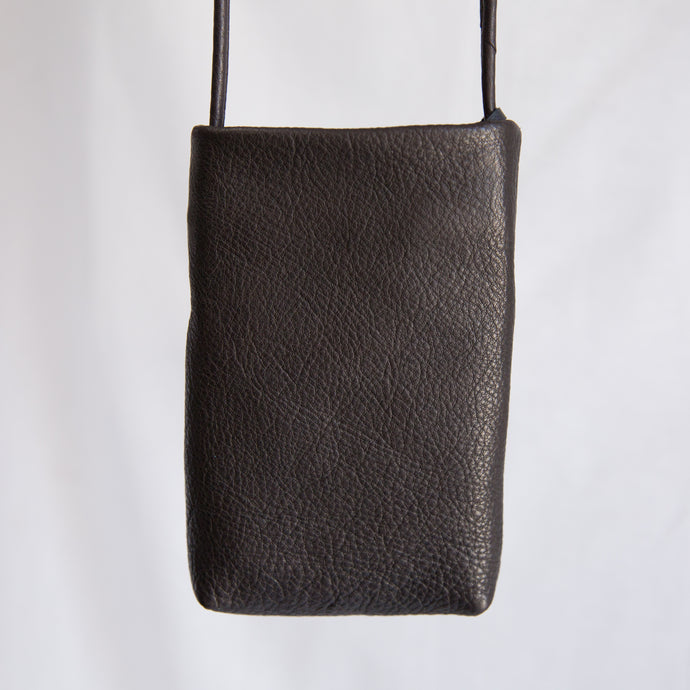 Sven | Small Leather Bag in Dark Chocolate