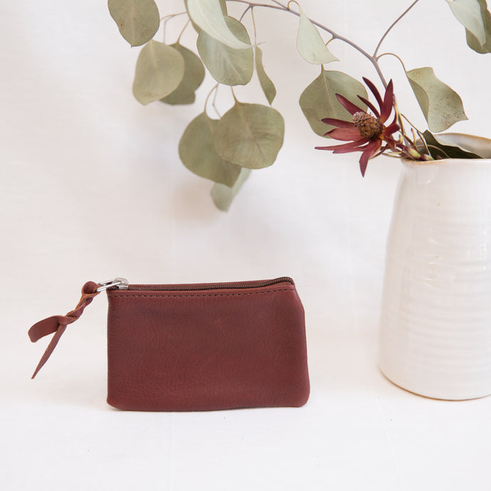 Leather Pouch | Maroon
