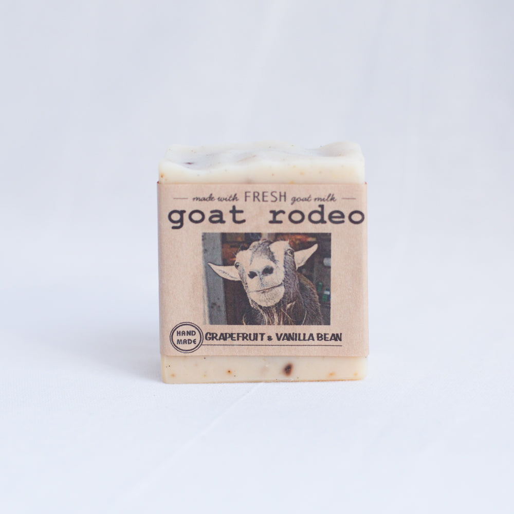 front view goat rodeo grapefruit vanilla soap from los angeles
