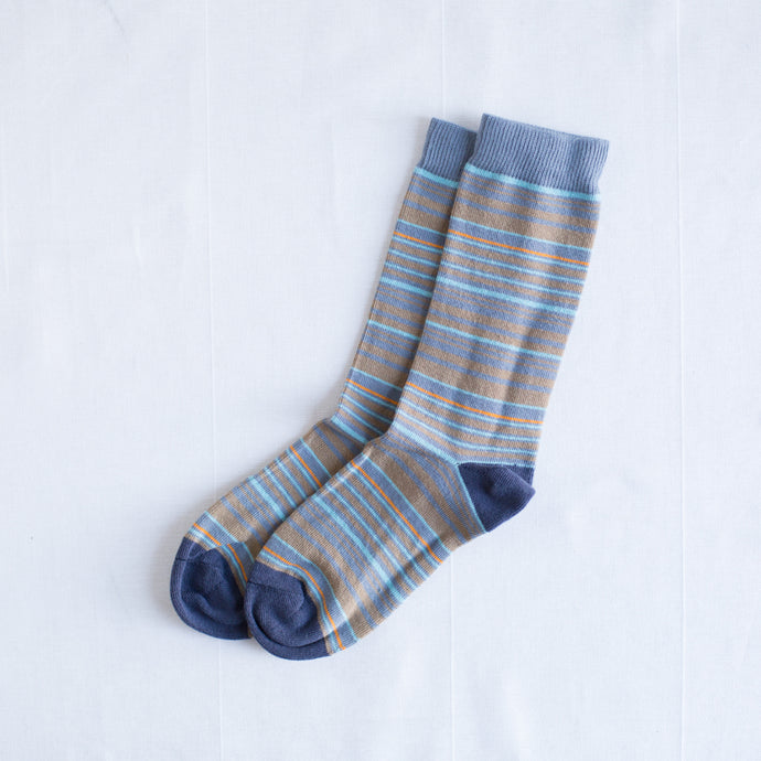 Multi-Stripe Sock | Navy