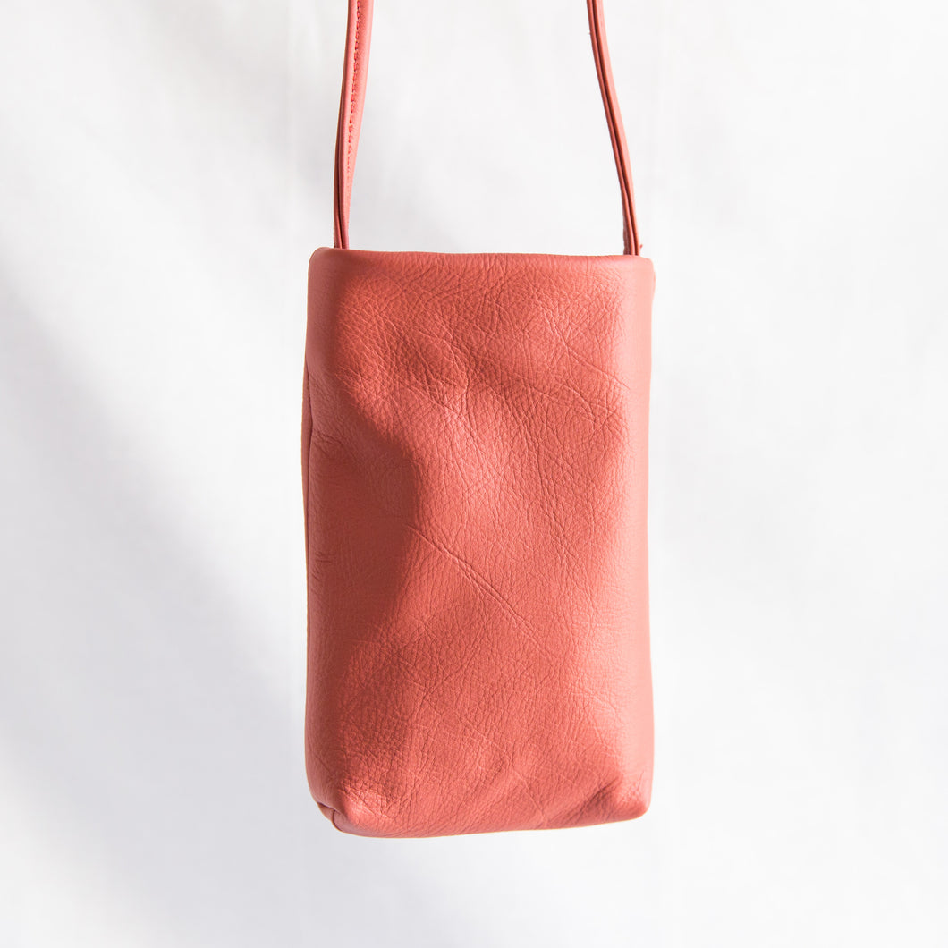 Sven | Small Leather Bag in Persimmon