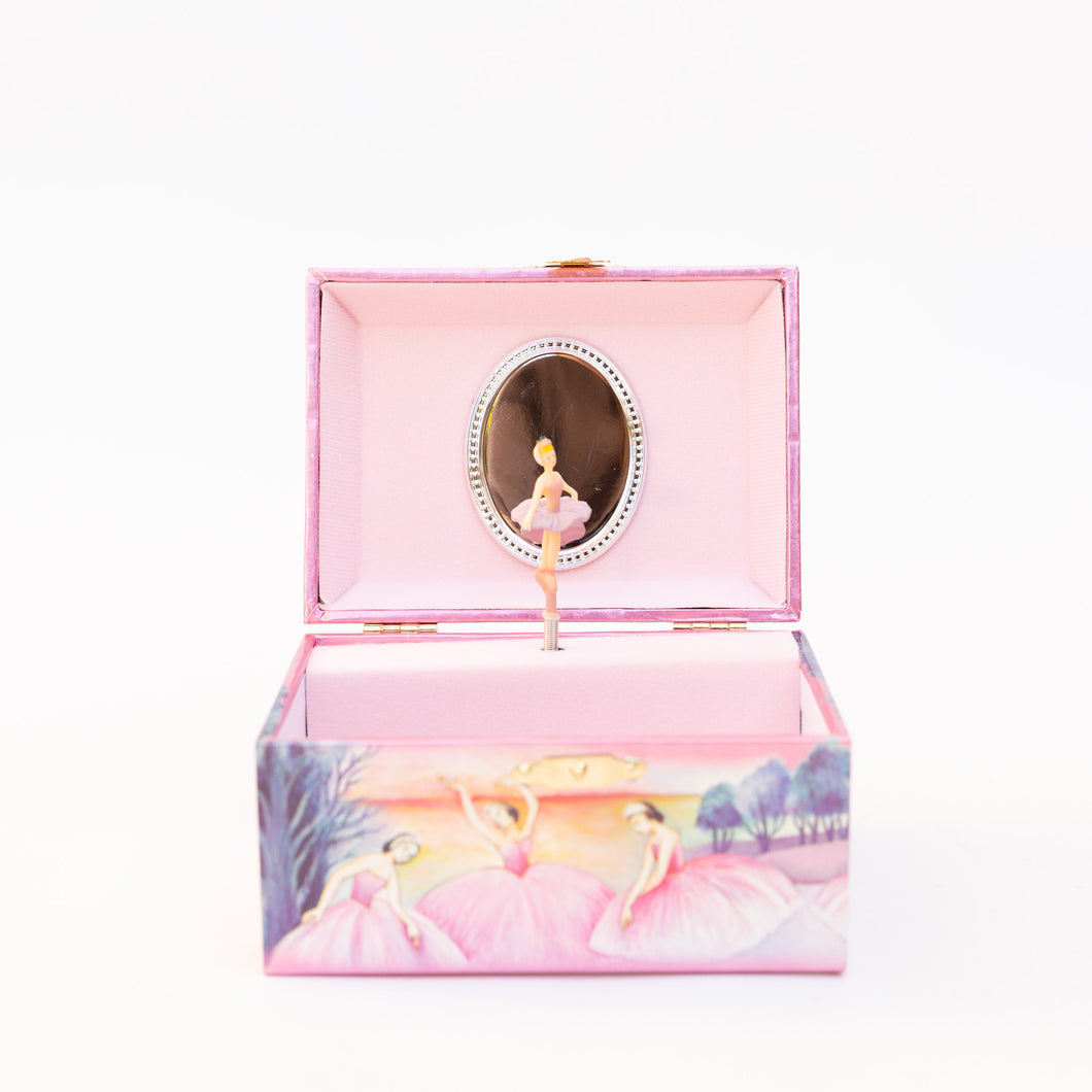 open ballerina jewelry box