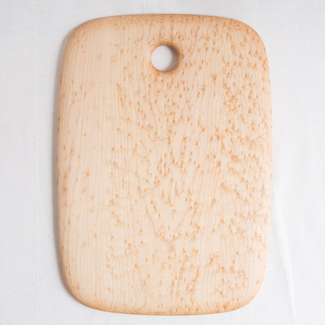 bird's eye maple cutting board 11 by 15.5 inches