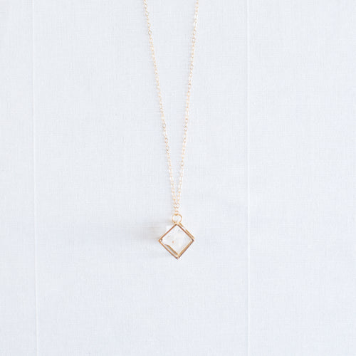 Crystal & Cube Necklace