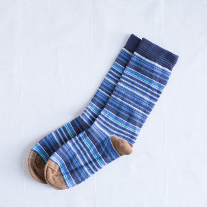 Multi-Stripe Sock | Brown
