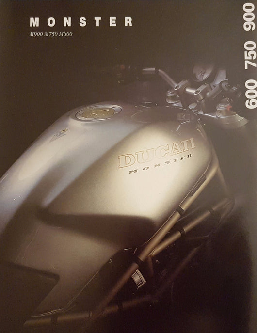 Ducati Monster M600 M750 M900 Original Brochure