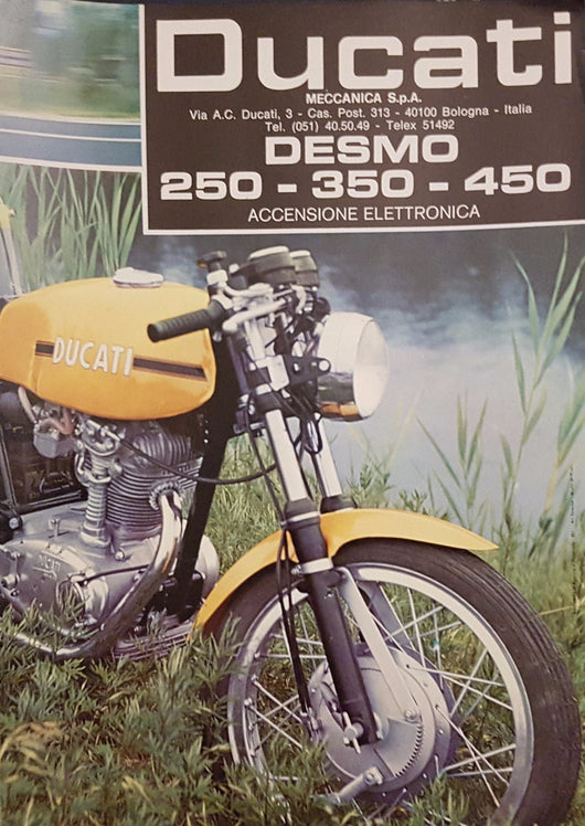 Ducati Desmo Mark III 250 - 350 - 450 Original Brochure