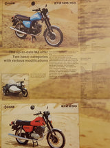 MZ ETZ 125 150 250 Retro Brochure
