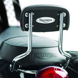 Triumph Sissy Bar High A9738018 a high-end chrome-plated sissy bar includes backrest pad chrome Triumph badge