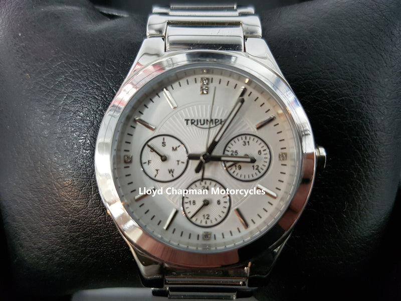 genuine triumph motorcycles ladies stainless steel watch mwss15200