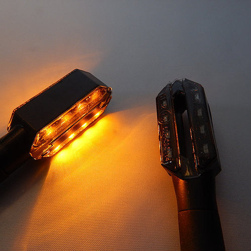 Pazoma Mini LED Signal Lights SIG-005-BLK-AMB