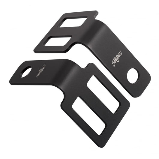 Motone Indicator Brackets - Under Seat Mount - Black PTS001B
