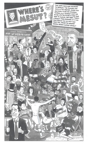 'Where's Mesut' Signed A3 Print