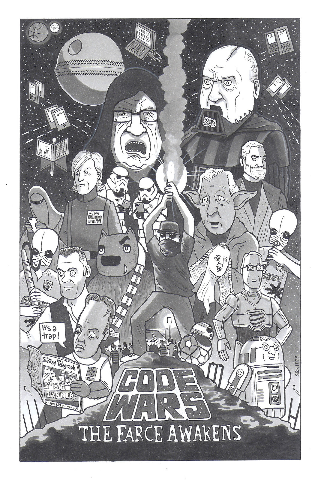 Code Wars A3 Signed Print
