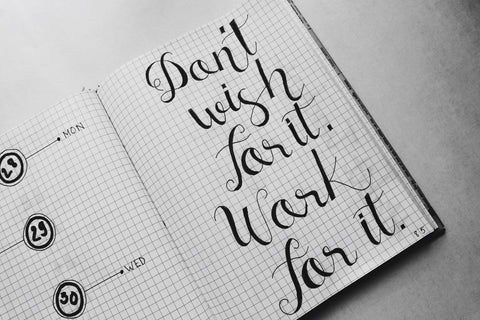 Practice hacks to perfect calligraphy by Dryden Designs