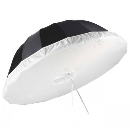 1300mm Black Silver Parabolic Umbrella with Translucent Diffuser - Broadcast Lighting