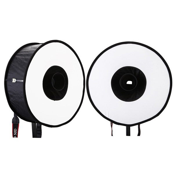 18'' 45cm Round Flash Softbox for Speedlight with Carrying Bag - Broadcast Lighting