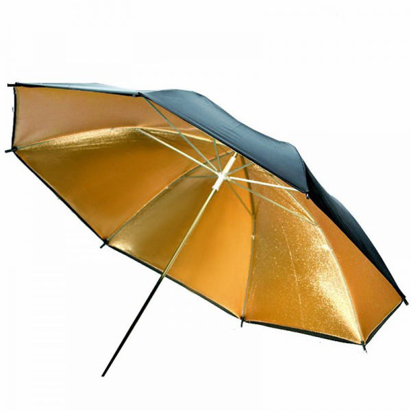 Black Gold Reflector 33 inch Umbrella - Broadcast Lighting