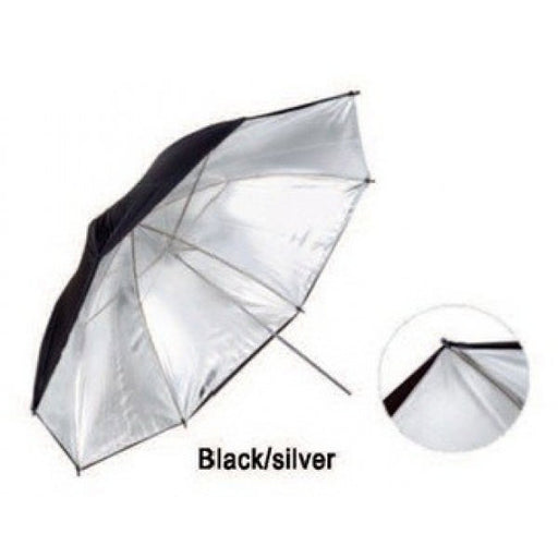 Black/Sliver 33 inch Umbrella - Broadcast Lighting