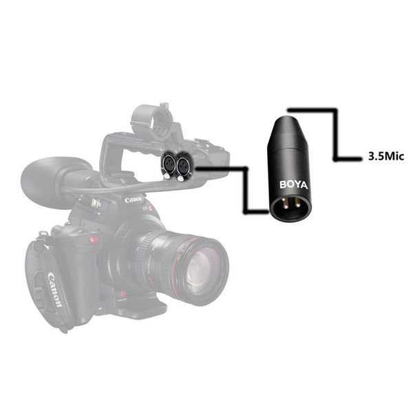 Boya BY-35C-XLR 3.5mm Mini-Jack to XLR Converter - Broadcast Lighting