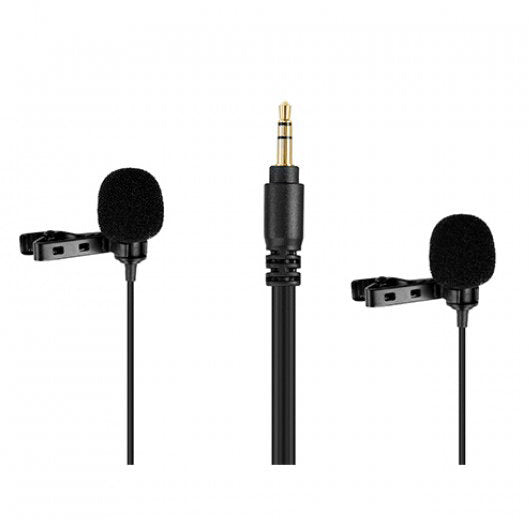 Boya BY-LM300 Dual-Lavalier Microphone - Broadcast Lighting