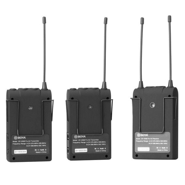 Boya BY-WM8 Pro-K2 UHF Dual-Channel Wireless Microphone System - Broadcast Lighting