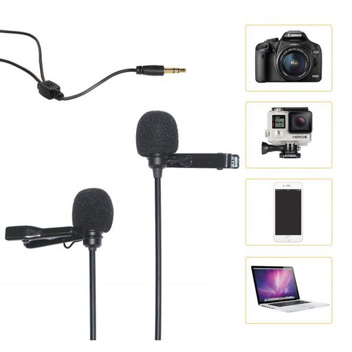 Comica CVM-D02 Dual-head Lavalier Microphone - Broadcast Lighting